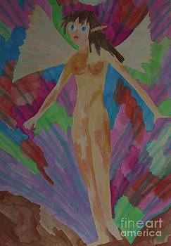 Tinkerbell nude in city by Voda Tenerife