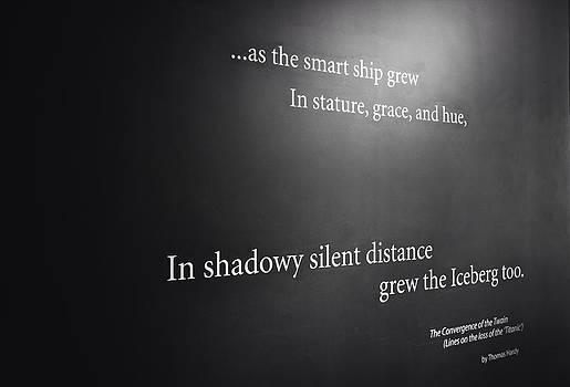 Titanic Poem by Peter McAuley