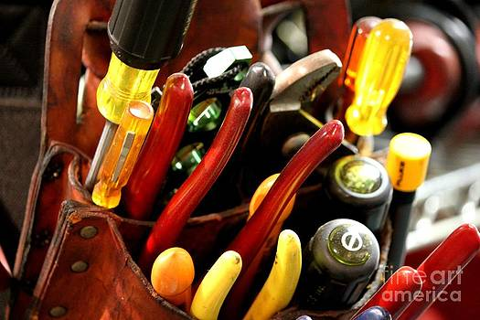 Tools in Yellow and Red by Theresa Willingham
