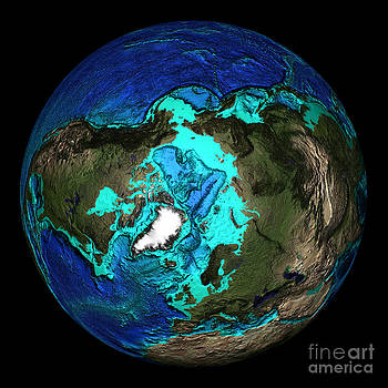 Science Source - Topographical Map Of Coordinates North