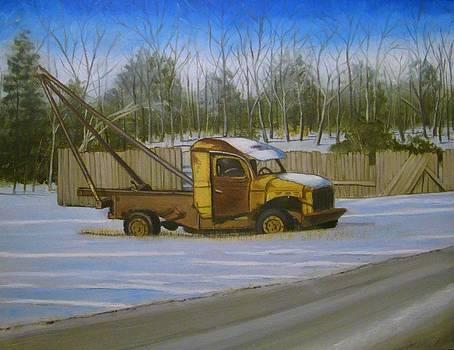 Tow truck on Burgoyne Ave. by Mark Haley