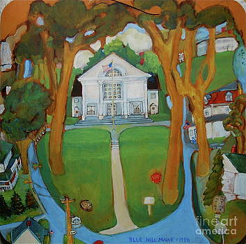 Town Hall-Blue Hill by June Harding