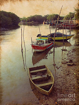Traditional Fisherman Boats In Phuket Thailand by Anusorn Phuengprasert nachol
