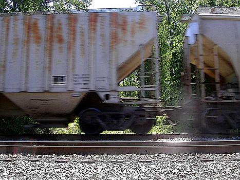 Anne Cameron Cutri - Train Cars with light spots