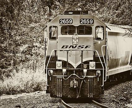 TONY GRIDER - Train in Sepia