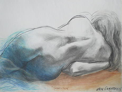 Transition - Mermaid Tryptic 2 by Jennifer Christenson
