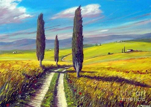 Tre Cipressi by Sandro  Mulinacci