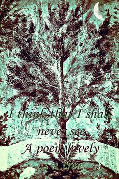 Tree and Poem by Susan Leggett