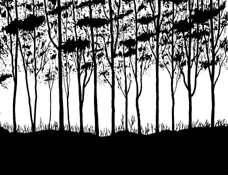 Trees curtain  by Marwan Hasna - Art Beat