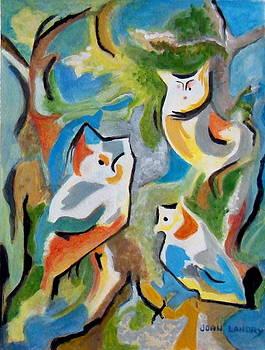 Trio of Owls by Joan Landry