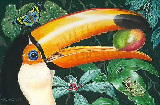 Richard De Wolfe - Tropical Rain Forest Toucan