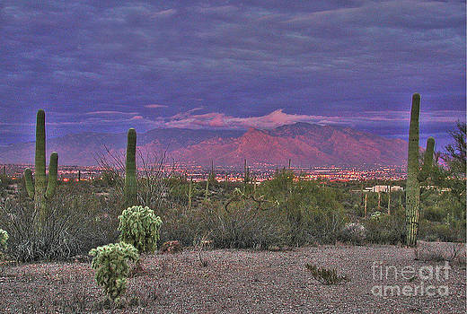 Tucson at dusk by Jim Wright