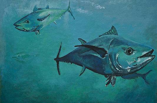 Tuna School by Terry Gill