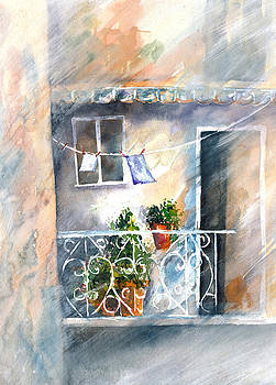 Tuscan Balcony by Jitka Krause