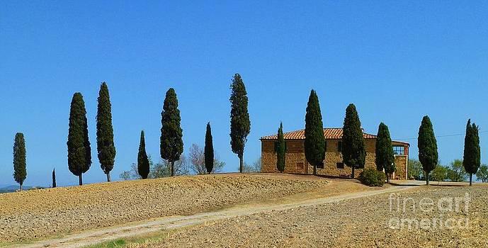 Tuscan House  I cipressini  by Christine Huwer
