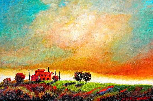 Tuscany sky by Santo De Vita