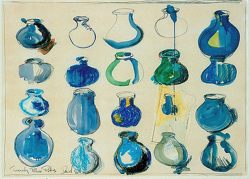 Twenty Blue Pots by David Martin