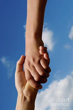 Sami Sarkis - Two children holding hands