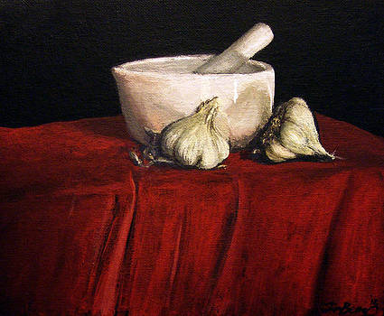 Two Heads of Garlic by Timothy Benz
