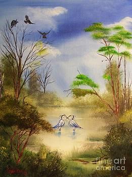 Two Herons by Crispin  Delgado