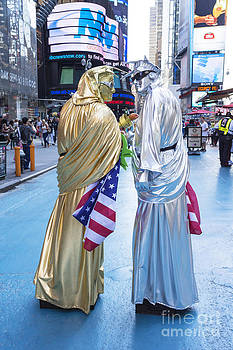 Two in Time Square by Ed Rooney