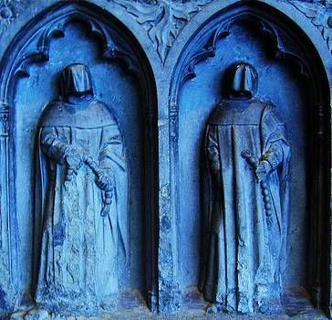 Two Medieval Monks in Stone by Nancy Mitchell