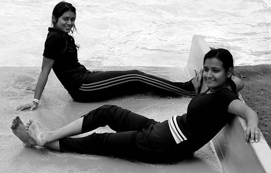 Two Relaxing Woman by Manaswinee Mohanty