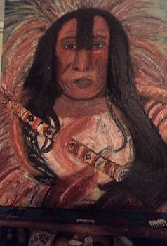 Anne-Elizabeth Whiteway - Unfinished Native American Chief Portrait
