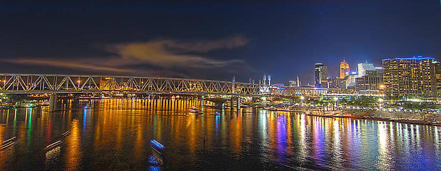 Randall Branham - Unique Panorama of Cincinnati skyline
