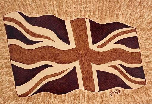 United Kingdom Flag coffee painting by Georgeta  Blanaru