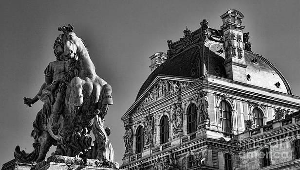 Chuck Kuhn - Up Close Louvre BW