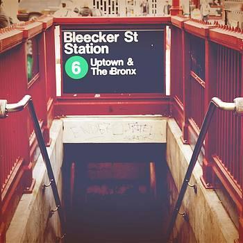 Uptown Bleecker St Street Station New York City Photograph by Bao Studio