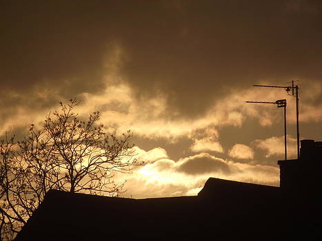 Urban Sunset in April 2012 by Martin Blakeley