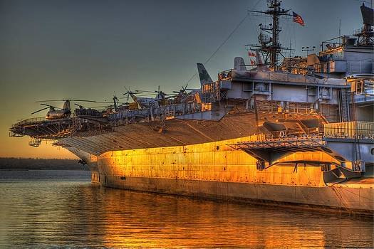 U.S.S. Midway at Sunset by Robbie Snider