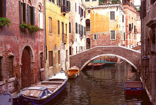 Venice Bridge over a Small Canal. by Tom Wurl