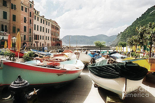 Vernazza Boat Kitty 2 by Virginia Furness