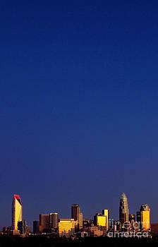 Vertical Charlotte skyline by Patrick Schneider