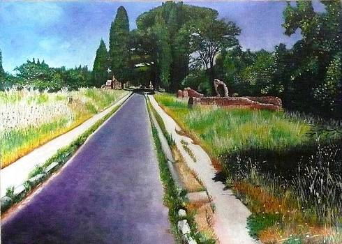 Via Appia Antica by Sandro Sabatini