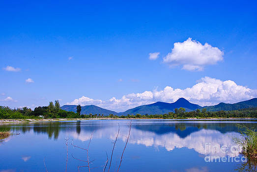 View to river in Thailand by Jeng Suntorn niamwhan