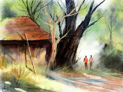 Village by Kiran Kumar