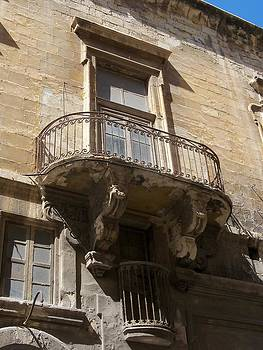 Vintage Balcony by Sandy Collier