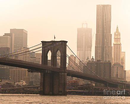 Vintage Brooklyn Bridge by Darwin Lopez