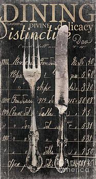 Vintage Dining Utensils in Black  by Grace Pullen