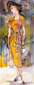 Ginette Fine Art LLC Ginette Callaway - Vintage Fashion Girl in A Black Hat