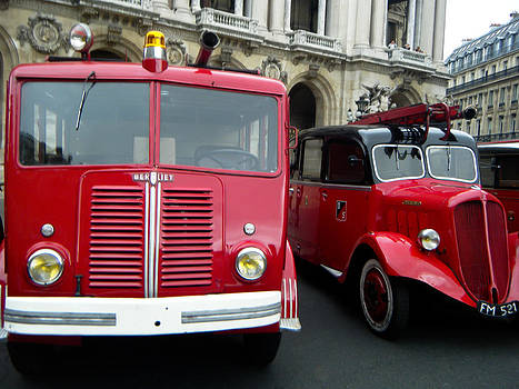 TONY GRIDER - Vintage Fire Truck Duo