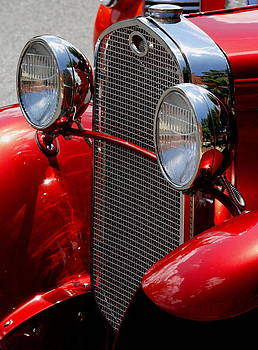 Vintage Red Car by Julian Bralley