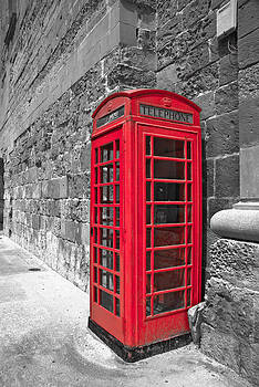 Vintage Red Phone Booth by Preston Coe