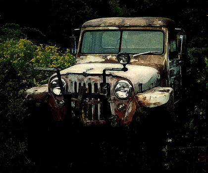 Vintage Toyota jeep by Malcolm Lorente