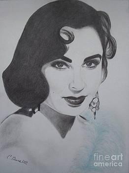 Violet Eyed Beauty by Christy Bruna