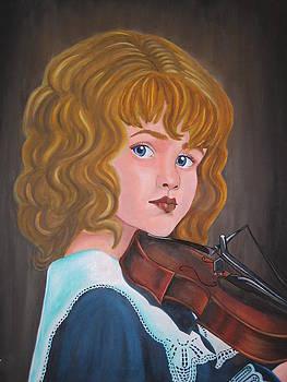 Violin player by Joanna Marouli
